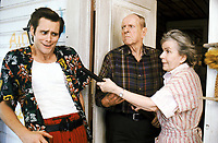 Ace Ventura: Pet Detective (1994) <br /> Jim Carrey, Alice Drummond &amp; Bill Zuckert<br /> *Filmstill - Editorial Use Only*<br /> CAP/KFS<br /> Image supplied by Capital Pictures