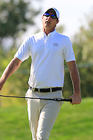 Nicolas Colsaerts (BEL) misses his birdie putt on the 13th green during Thursday's Round 1 of the 2016 Portugal Masters held at the Oceanico Victoria Golf Course, Vilamoura, Algarve, Portugal. 19th October 2016.<br /> Picture: Eoin Clarke   Golffile<br /> <br /> <br /> All photos usage must carry mandatory copyright credit (© Golffile   Eoin Clarke)