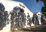 Tio Pepe sherry brand sign Gonzalez Byass bodega building, Jerez de la Frontera, Cadiz province, Spain