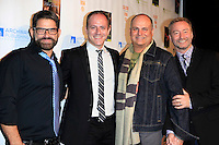"MALIBU - OCT 21: Matt Zarley, Michael Caprio, Brian Edwards, Randy Slovacek at the ""Enter Miss Thang"" Book Launch Party at Cafe Habana on October 21, 2013 in Malibu, California"
