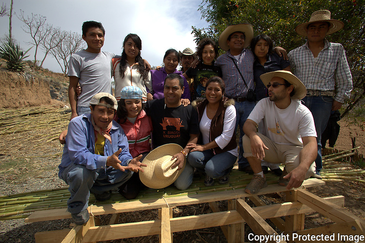 Workshop Mud Architecture in Nochixtlan, Oaxaca, March 31 to April 01, 2012. Mixtec Native people from Nochixtlan, Jaltepetongo, Tilantogo worked for three day building an adobe house in Nochixtlan, Oaxaca. Photo by Heriberto Rodriguez
