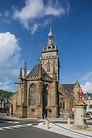 France, Manche (50), Cotentin, Villedieu les Poêles:  L'église Notre-Dame// France, Manche, Cotentin,Villedieu les Poeles:  The church