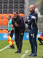 Martin Allen manager of Barnet during the EFL Sky Bet League 2 match between Barnet and Colchester United at The Hive, London, England on the 17th September 2016. Photo by Liam McAvoy.