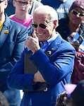 "Former Vice-President Joe Biden flashes a ""thumbs up"" as he is introduced at a Get Out The Vote rally at Kiener Plaza in downtown St.Louis, Missouri, USA.<br /> Tim VIZER/AFP"