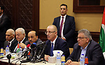 Palestinian Prime Minister Rami Hamdallah meets with Palestinian youths in Gaza city on October 4, 2017. For three days it was all smiles as the Palestinian prime minister held talks in Gaza with Hamas but as the symbolic visit draws to a close the real work for reconciliation is just beginning. Photo by Prime Minister Office