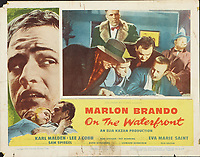 On the Waterfront (1954) <br /> Lobby card with Marlon Brando, Lee J. Cobb &amp; Fred Gwynne<br /> *Filmstill - Editorial Use Only*<br /> CAP/MFS<br /> Image supplied by Capital Pictures