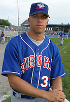 July 28, 2003:  Pitcher Jordy Templet (33) of the Auburn Doubledays, Class-A affiliate of the Toronto Blue Jays, during a game at Dwyer Stadium in Batavia, NY.  Photo by:  Mike Janes/Four Seam Images