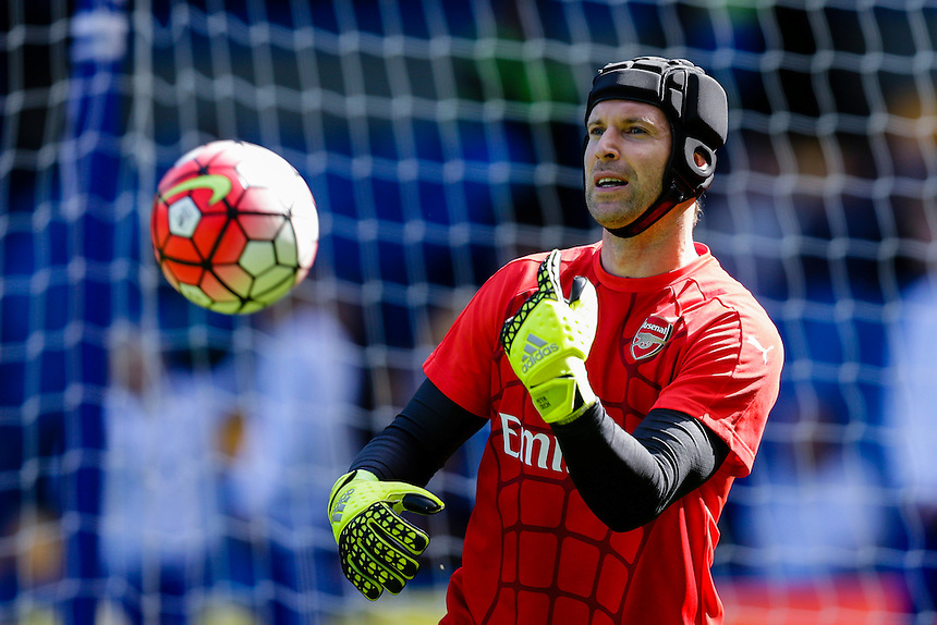 Arsenal's Petr Cech during the pre-match warm-up <br /> <br /> Photographer Craig Mercer/CameraSport<br /> <br /> Football - Barclays Premiership - Chelsea v Arsenal - Saturday 19th September 2015 - Stamford Bridge - London<br /> <br /> &copy; CameraSport - 43 Linden Ave. Countesthorpe. Leicester. England. LE8 5PG - Tel: +44 (0) 116 277 4147 - admin@camerasport.com - www.camerasport.com