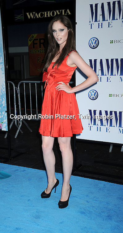 """model Coco Rocha..posing for photographers at The American Premiere of """"Mamma Mia! The Movie on July 16, 2008 at The ..Ziegfeld Theatre in New York City. ....Robin Platzer, Twin Images"""