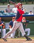 12 March 2014: Washington Nationals infielder Sean Nicol in action during a Spring Training game against the Houston Astros at Osceola County Stadium in Kissimmee, Florida. The Astros rallied in the bottom of the 9th to edge out the Nationals 10-9 in Grapefruit League play. Mandatory Credit: Ed Wolfstein Photo *** RAW (NEF) Image File Available ***