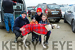 Anthony O'Sullivan, Ronan O'Sullivan, T J O'sullivan and Sarah O'Sullivan from Ballyduff with Essential, Entered in the O'Carroll-O'Connor Cup- Quilters Bar Trophy at the 88th Annual Meeting of the  Lixnaw Coursing Club on Sunday