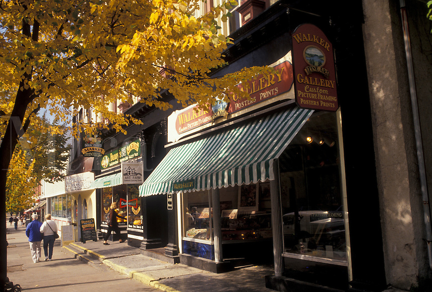 AJ3106, Cooperstown, New York, Downtown Cooperstown in the autumn in the state of New York.