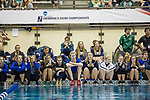 BIRMINGHAM, AL - MARCH 11: Swimmers cheer on their teammates during the Division II Men's and Women's Swimming & Diving Championship held at the Birmingham CrossPlex on March 11, 2017 in Birmingham, Alabama. (Photo by Matt Marriott/NCAA Photos via Getty Images)