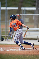 Houston Astros Kristian Trompiz (87) during a Minor League Spring Training game against the St. Louis Cardinals on March 27, 2018 at the Roger Dean Stadium Complex in Jupiter, Florida.  (Mike Janes/Four Seam Images)
