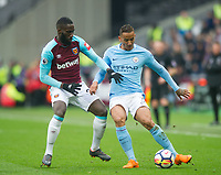 Manchester City Danilo during the EPL - Premier League match between West Ham United and Manchester City at the Olympic Park, London, England on 29 April 2018. Photo by Andrew Aleksiejczuk / PRiME Media Images.