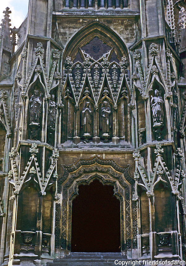 Bristol: St. Mary Redcliffe--North Porch. Photo '90.