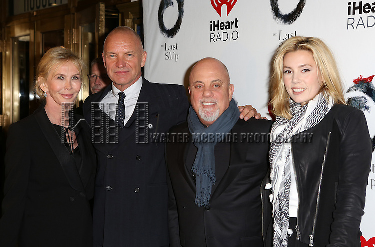 Trudie Styler, Sting, Billy Joel and Alexis Roderick attends the Broadway Opening Night performance of 'The Last Ship' at the Neil Simon Theatre on October 26, 2014 in New York City.