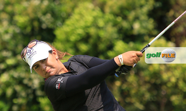 Lizette Salas (USA) on the 16th tee during the Pro-Am of the HSBC Women's Champions at the Sentosa Golf Club, The Serapng Course in Singapore on Wednesday 4th March 2015.<br /> Picture:  Thos Caffrey / www.golffile.ie