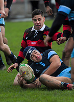 Action from the 2019 Manawatu premier club rugby union match between College Old Boys and Kia Toa at CET Arena in Palmerston North, New Zealand on Saturday, 1 June 2019. Photo: Dave Lintott / lintottphoto.co.nz