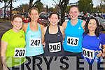 Pictured at the Tralee Carers 10k Mini Marathon at the Brandon Hotel on Sunday were from left: Sorcha Uí Shuilleabháin (Tralee) Aoife Ní Shéaghdha (Ballyferriter) Grainne Ní Chonchúir (Dingle) Aimee O'Connor (Dingle) and Mairead Keane O'Connor (Kilflynn).