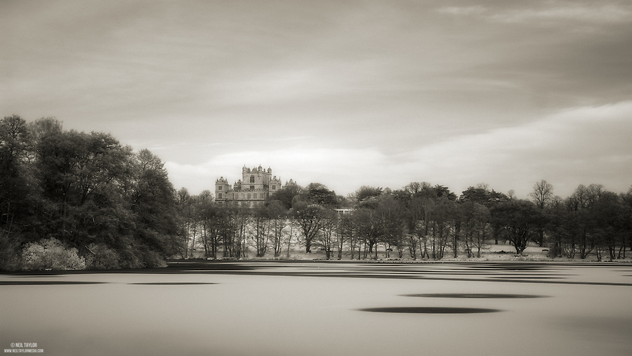 A Frozen Wollaton Park Lake in Infrared
