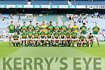 The Kerry team who defeated Dublin in the All Ireland Minor Football Semi Final at Croke Park on Sunday.