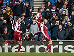 20.02.2020 Rangers v SC Braga: Abel Ruiz celebrates after scoring