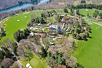 Aerial view of the Rockefeller Estate, Kykuit, in Pocantico Hills, Westminster, NY.