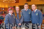 Amy O'Sullivan, Eleanor Maloney, Joe Hanafin and Alice Nolei from Scoil Eoin  at the Tralee Credit Union Primary Schools Quiz, held at Ballyroe Heights Hotel on Sunday