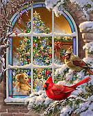 Dona Gelsinger, CHRISTMAS SYMBOLS, paintings+++++,USGE1318,#xx# Symbole, Weihnachten, símbolos, Navidad, illustrations, pinturas