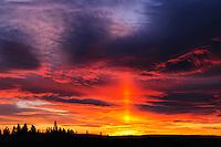 Fiery sky at sunrise<br /> Cypress Hills Provincial Park<br /> Saskatchewan<br /> Canada