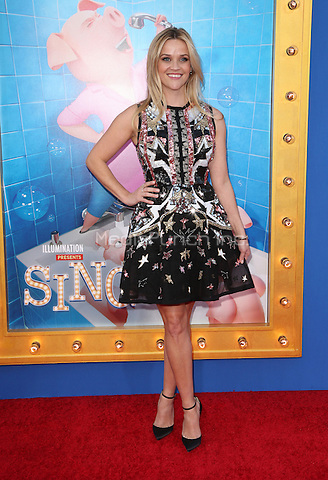 "Los Angeles, CA - DECEMBER 03: Reese Witherspoon, At Premiere Of Universal Pictures' ""Sing"" At Pacific Theatres at the Microsoft Theater, California on December 03, 2016. Credit: Faye Sadou/MediaPunch"