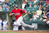 Pawtucket Red Sox outfielder Jason Repko #11 during an International League game against the Rochester Red Wings at Frontier Field on August 11, 2012 in Rochester, New York.  Rochester defeated Pawtucket 5-3.  (Mike Janes/Four Seam Images)