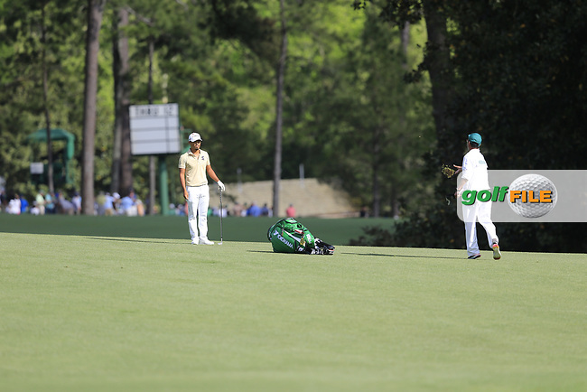 Satoshi Kodaire (USA) on the 13th during the 1st round at the The Masters , Augusta National, Augusta, Georgia, USA. 11/04/2019.<br /> Picture Fran Caffrey / Golffile.ie<br /> <br /> All photo usage must carry mandatory copyright credit (© Golffile | Fran Caffrey)