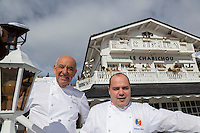Europe/France/Rhone-Alpes/73/Savoie/Courchevel: Michel Rochedy et de son chef le MOF Stéphane Buron [Non destiné à un usage publicitaire - Not intended for an advertising use]