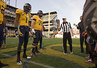 November 12th, 2011:  California vs Oregon State's coin toss before the start of football game at AT&T Park in San Francisco, Ca  - California defeated Oregon State 23 - 6