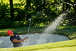 STILLWATER, OK - MAY 21: Bianca Pagdanganan of Arizona hits out of a bunker on the 9th greenduring the Division I Women's Golf Individual Championship held at the Karsten Creek Golf Club on May 21, 2018 in Stillwater, Oklahoma. (Photo by Shane Bevel/NCAA Photos via Getty Images)