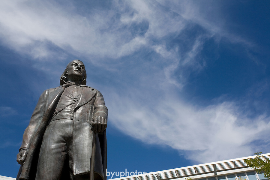 0709-73 GCS BY-MOA..Brigham Young Statue..September 13, 2007..Photo by Jaren Wilkey/BYU..Copyright BYU Photo 2007.All Rights Reserved.photo@byu.edu  (801)422-7322