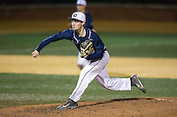 Georgetown Hoyas relief pitcher Jimmy Swad (22) in action against the Wake Forest Demon Deacons at David F. Couch Ballpark on February 19, 2016 in Winston-Salem, North Carolina.  The Demon Deacons defeated the Hoyas 3-1.  (Brian Westerholt/Four Seam Images)