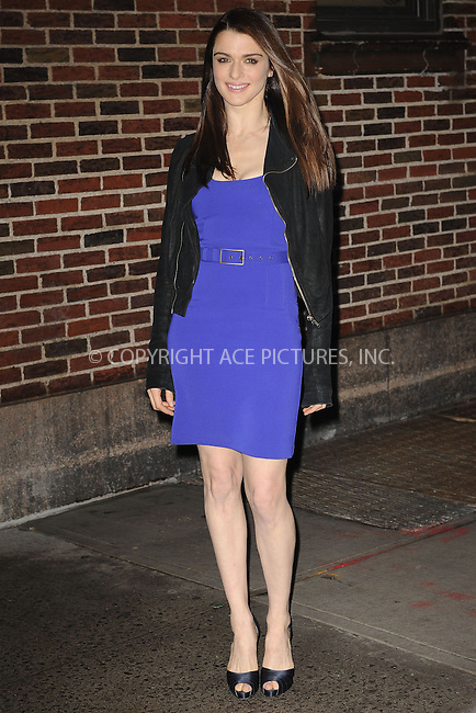 WWW.ACEPIXS.COM . . . . . ....December 9 2009, New York City....Actress Rachel Weisz made an appearance at 'The Late Show with David Letterman' in Manhattan on December 9 2009 in New York City....Please byline: KRISTIN CALLAHAN - ACEPIXS.COM.. . . . . . ..Ace Pictures, Inc:  ..tel: (212) 243 8787 or (646) 769 0430..e-mail: info@acepixs.com..web: http://www.acepixs.com