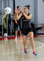 18.10.2015 Silver Ferns Grace Rasmussen trains for their upcoming netball test match against Australia in Christchurch. Mandatory Photo Credit ©Michael Bradley.