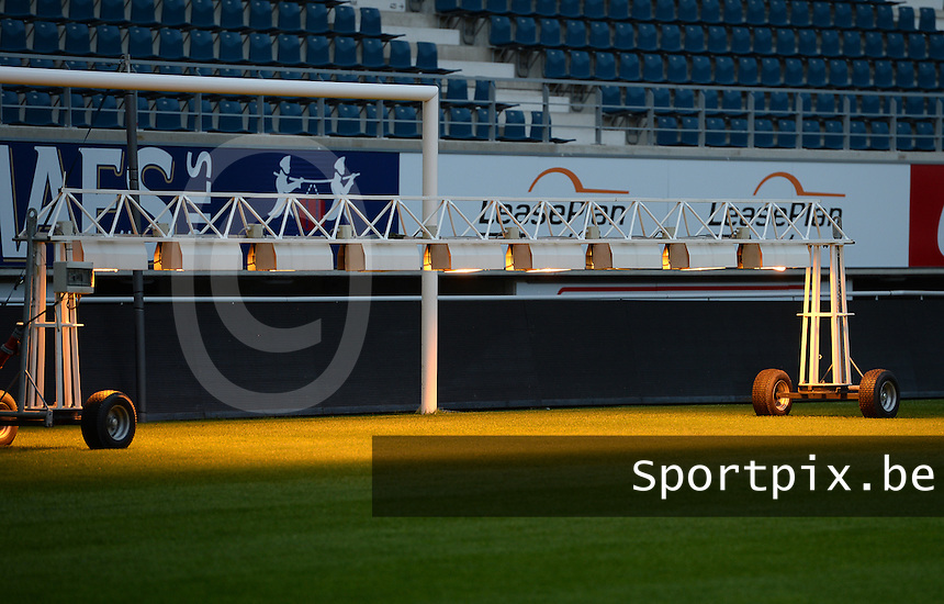 20150821 - GENT, BELGIUM: Gent's stadium pictured during a press conference about the start of the new Super League season of the women's team KAA Gent Ladies , Friday 21 August 2015 , in Gent. PHOTO DAVID CATRY