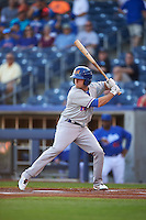 Midland RockHounds outfielder Jaycob Brugman (9) at bat during a game against the Tulsa Drillers on June 2, 2015 at Oneok Field in Tulsa, Oklahoma.  Midland defeated Tulsa 6-5.  (Mike Janes/Four Seam Images)