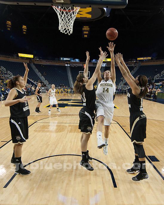 The University of Michigan women's basketball team beat Western Michigan University, 60-41, at Crisler Center in Ann Arbor, Mich., on December 15, 2012.
