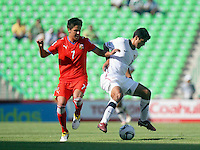 Action photo of Ales Cermak of the Czech Republic (L), during game of the FIFA Under 17 World Cup game, held at  Torreon.