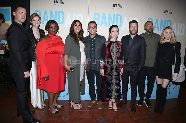 LOS ANGELES, CA - MAY 30: Colin Hanks, Brooklyn Decker, Angelique Cabral, Fred Armisen, Zoe Lister-Jones, Adam Pally, Jessie Williams and Majandra Delfino, at LOS ANGELES PREMIERE OF BAND AID at The Theatre at Ace Hotel in The Theatre at Ace Hotel, California on May 30, 2017. Credit: Faye Sadou/MediaPunch