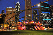 The Pritzker Pavilion in Millenium Park, Chicago, June 2011. Ernie Mastroianni photo.