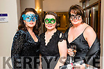 Marilyn Duffy, Colette Quinn and Helena Hartnett, pictured at the Pieta House Masquerade Ball on Friday night last held in the Rose Hotel, Tralee.