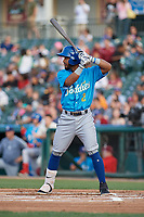 Amarillo Sod Poodles Ivan Castillo (2) bats during a Texas League game against the Frisco RoughRiders on May 17, 2019 at Dr Pepper Ballpark in Frisco, Texas.  (Mike Augustin/Four Seam Images)