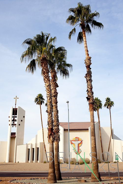 St. Clement of Rome Catholic Church in Sun City, Arizona January 10, 2010.